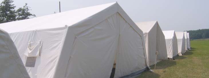 Sanitary and rescue service SAS Tent landscape