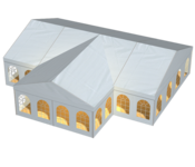 Both in length and in width, the RÖDER tent Mega Duo can be extended as desired and adapts perfectly to every need.