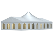 With a span of ten meters and selectable side and ridge heights, the W-TENTS tent Giga Uno can be adapted to the requirements of every event.