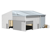 Quickly assembled and still stable: T-LINE tents - rent, buy, lease at the RÖDER Group.