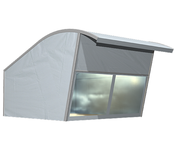 The RÖDER sheet tent has been specially developed for the requirements of the automotive industry. It is perfect for the presentation of exclusive vehicles
